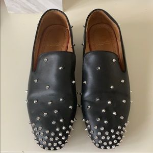 Christian Louboutin Men's Spiked Loafers